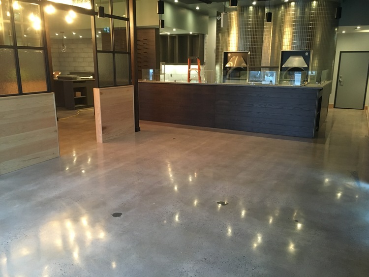 Polished Concrete Carbone S Coal Fired Pizza Tc Floors West
